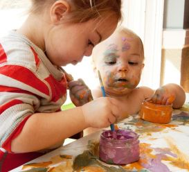 Finger paints as an important game in every childhood