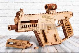 Assault Rifle Gun - 3D Mechanical Puzzle WOOD TRICK