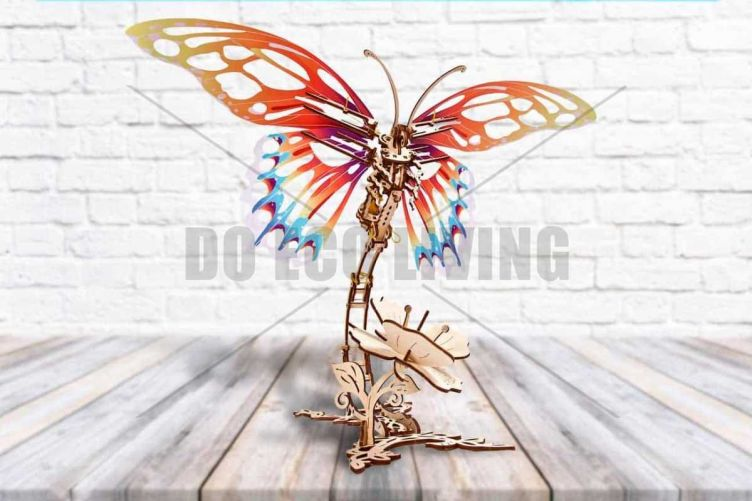 Butterfly - 3D Mechanical Puzzle UGEARS - photo