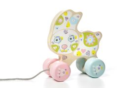 Wooden toy Happy Bunny (push and pull) CUBIKA