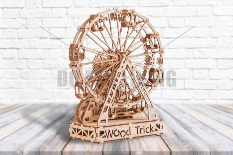 Ferris Wheel - 3D Mechanical Puzzle WOOD TRICK  - photo