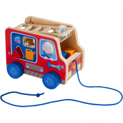 Fire Brigade Pulling Figure and Shape Sorter - HABA