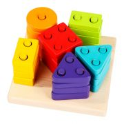 Wise Elk CUBIKA Wooden toy Sorter Geometric Figures