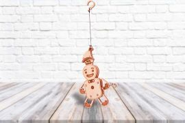 Gingerbread Man - 3D Mechanical Puzzle WOOD TRICK