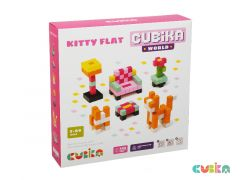 Wooden pixels constructor set Kitty Flat – Wise Elk Cubika