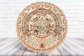 Wall Mayan Calendar - 3D Mechanical Puzzle WOOD TRICK