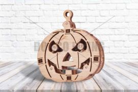 Halloween Woodik Pumpkin  3D Mechanical Puzzle WOOD TRICK
