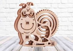 Woodik Snail - 3D Mechanical Puzzle WOOD TRICK