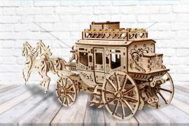 Stagecoach - 3D Mechanical Puzzle UGEARS