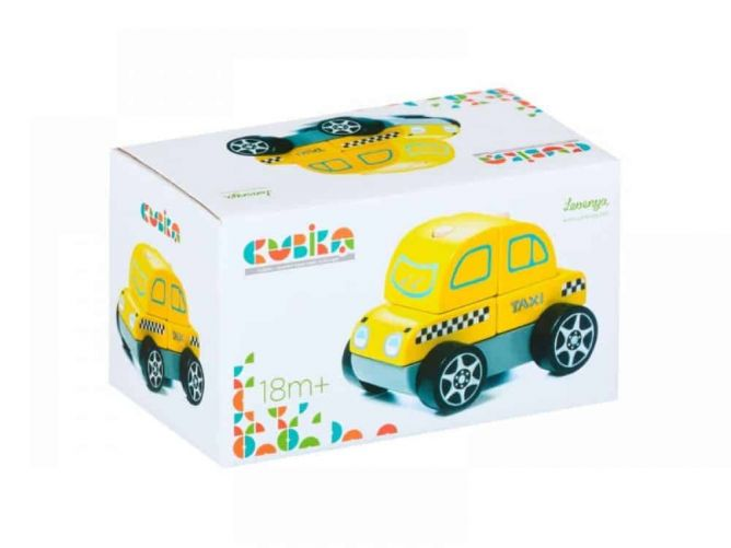 Wooden Taxi Car LM-6 CUBIKA - photo