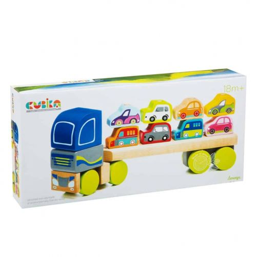 Wooden Truck with Cars LM-12 CUBIKA - photo