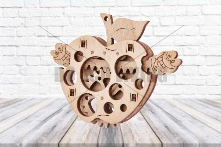 Woodik Apple - 3D Mechanical Puzzle WOOD TRICK - photo