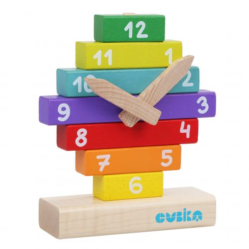 Wooden Clock Construction Kit – Wise Elk Cubika - photo