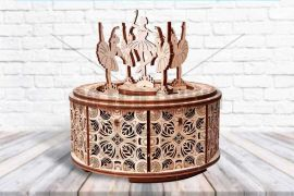 Dancing Ballerina Music Box - 3D Mechanical Puzzle WOOD TRICK