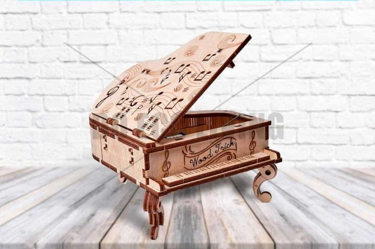 Grand Piano - 3D Mechanical Puzzle WOOD TRICK  - photo