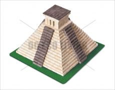 Mayan Pyramid Ceramic Building Bricks WISE ELK
