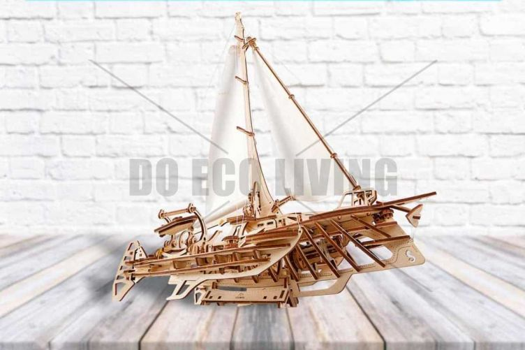 Trimaran Merihobus - 3D Mechanical Puzzle UGEARS  - photo